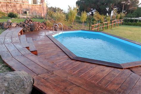 piscine fuori terra rivestite in legno la piscina fuoriterra 232 una soluzione di veloce realizzazione
