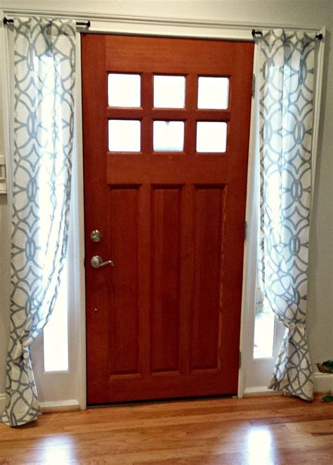 Front Door Window Treatment Best 25 Sidelight Curtains Ideas On