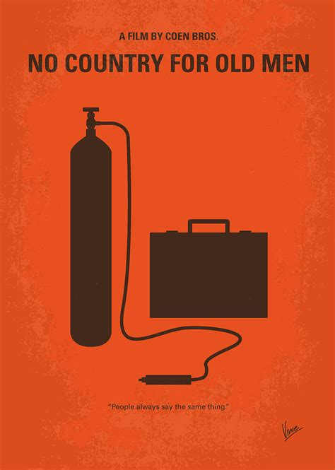no253 my no country for old men minimal movie poster digital art by chungkong art
