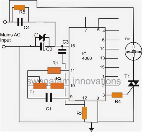 pin diode switching time timer oscillator circuit for exhaust fans circuit