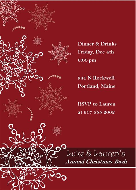 invitation  depict  holiday spirit  invite  employees   fun filled evening