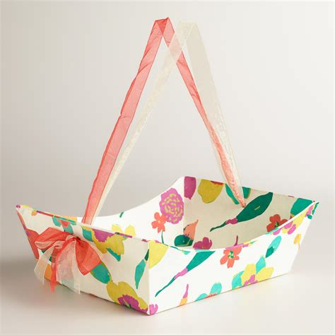 Handmade Gifts With Paper - large floral louisa handmade paper gift basket world market