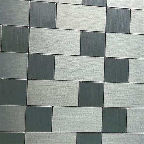 aluminum mosaic tile peel stick backsplash 9 7 sq ft
