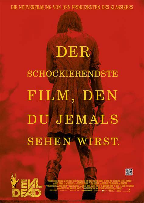evil dead ganzer film deutsch evil dead jane levy sieht rot deutsches filmposter zum
