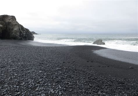 beach black sand black sands beach whitethorn ca california beaches
