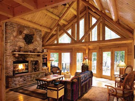 Log Home Living Rooms by Updating A Classic Log Cabin In Maryland