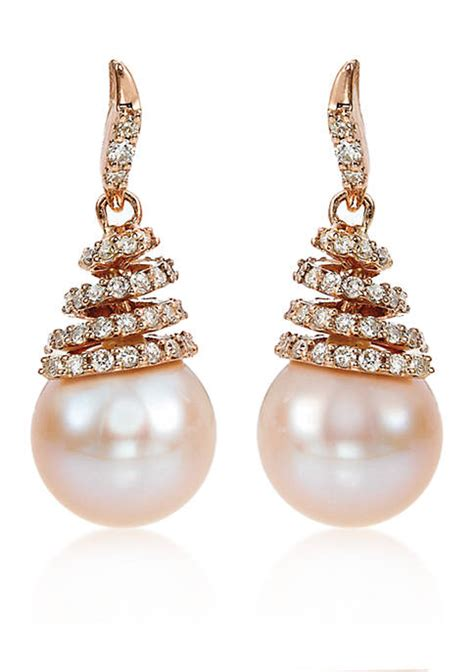 Strawberry Card Gold le vian 174 strawberry pearls earrings in 14k strawberry gold