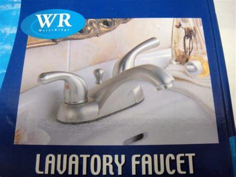Water Ridge Bathroom Faucet by New Water Ridge Wr Brushed Nickel Brass Lavatory Faucet Ebay