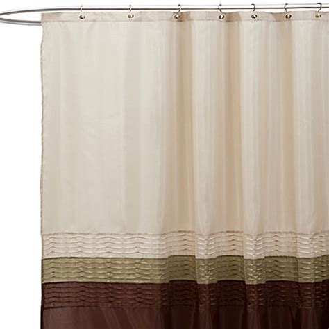 chocolate and green curtains buy mia green and brown 72 inch x 72 inch shower curtain