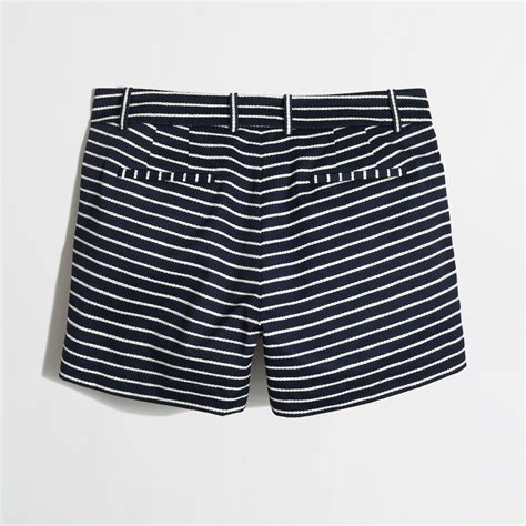 twisted factory j crew factory twisted rope short in blue lyst