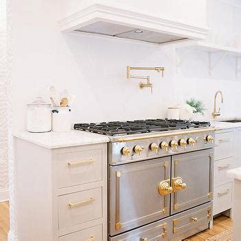 grey cabinets gold hardware gray and white kitchen with gold accents transitional