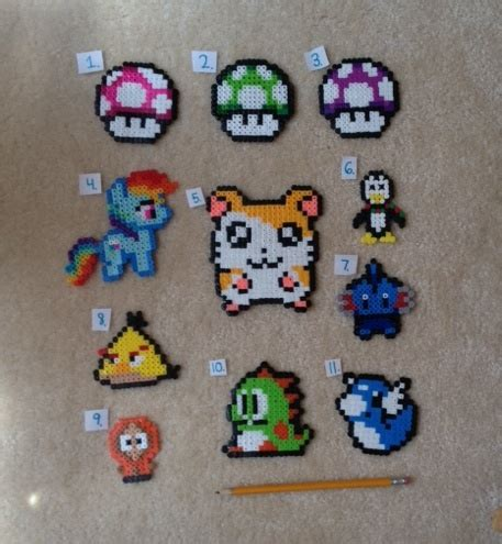 how to make things out of perler free choose one kawaii perler bead figure other