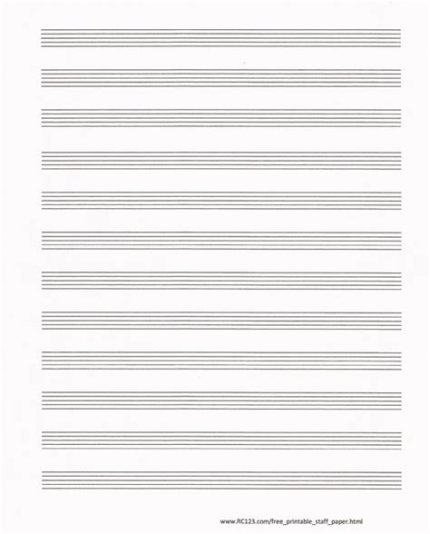 Free Blank Sheet Music Paper Printable Staff Paper | free and printable staff paper rc123 com