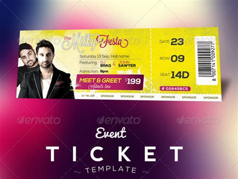 ticket template psd free event tickets template psd designbeep