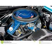 1971 Ford Mustang 8 Cylinder Engine 351C Royalty Free