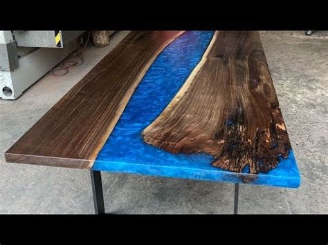 Wood And Epoxy Table Modern Coffee Tables And Accent Tables