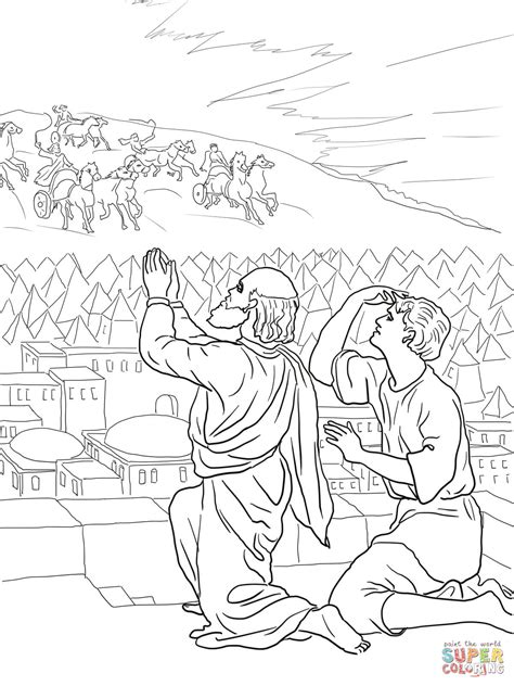 Elisha And The Chariots Of Fire Coloring Pages Sketch Elisha Coloring Page