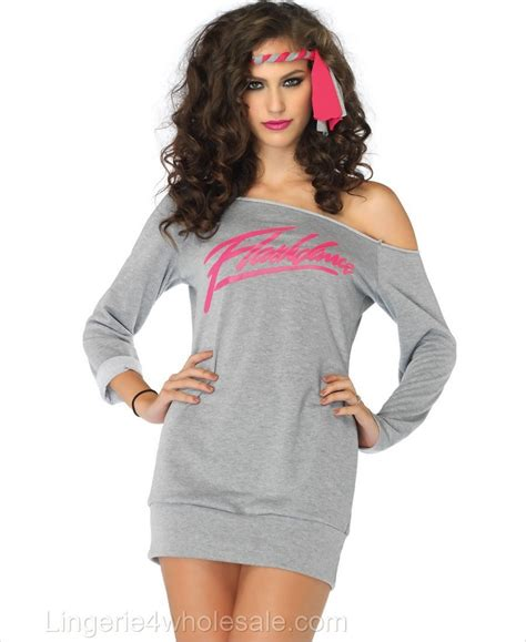 Bba3008 Dress Kostum Hoodie flashdance sweatshirt costume la fd83704