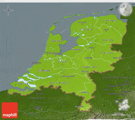 physical map of netherlands physical 3d map of netherlands darken