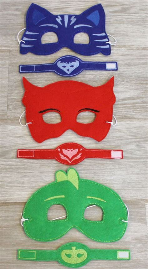 ready ship pj masks inspired masks wristband disney jr inspired masks bracelet party
