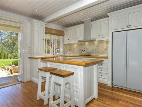 French Country Kitchens Ideas timber floorboards material homehound