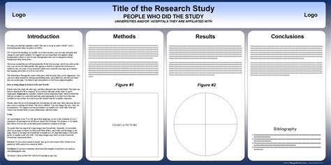 template poster free free powerpoint scientific research poster templates for