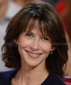 hairstyles for brunettes 50 medium hairstyles over 50 sophie marceau shoulder length