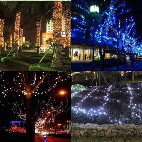 12m 100 led solar fairy light strip christmas xmas decor
