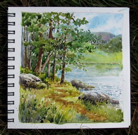 watercolor lake tutorial watercolor beauty a collection of ideas to try about art