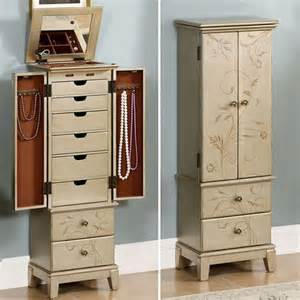 Gold Jewelry Armoire Vianne Vining Jewelry Armoire Storage Cabinet