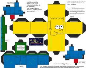 Simpsons Papercraft - x mas16 5 bart cubee by theflyingdachshund on