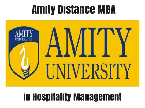 Mba In Financial Management Distance Learning by Amity Distance Mba In Hospitality Management Distance