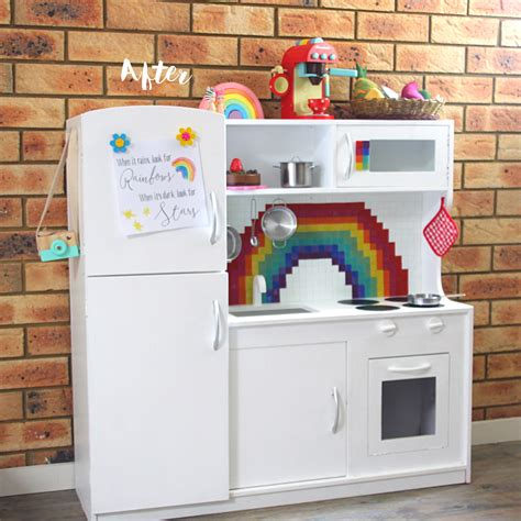 Kmart Play Kitchen by Before And After A Kmart Wooden Play Kitchen Hack