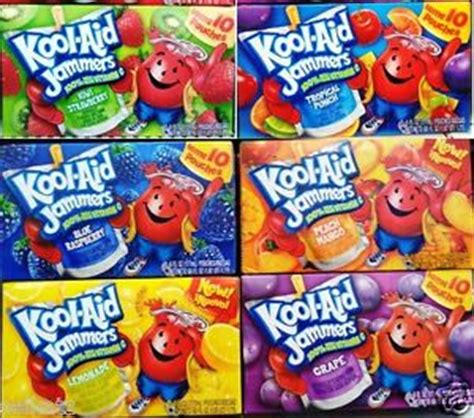fruit jammers kool aid jammers fruit drink pouches 100 daily vitamin c