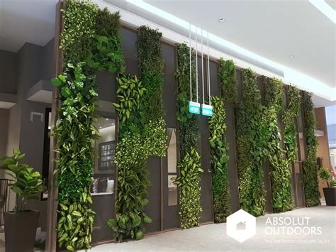 A Showroom With Style Featuring Artificial Green Walls Vertical Garden Wall Panels