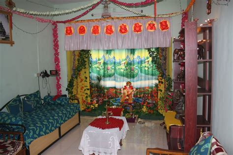 ganapati decoration in living room home combo festival dhamaal ganapati decoration at home