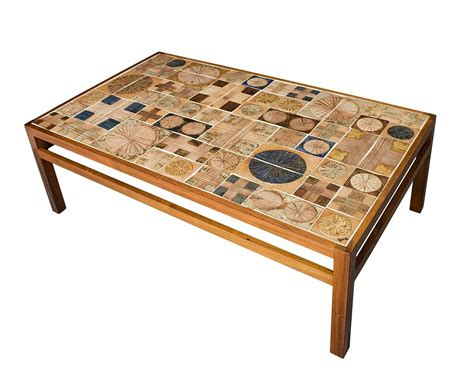 Tiled Coffee Table Tue Poulsen Tile Coffee Table At 1stdibs