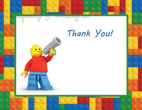 printable lego birthday thank you cards lego thank you cards instant download by uniquelyjdesigns