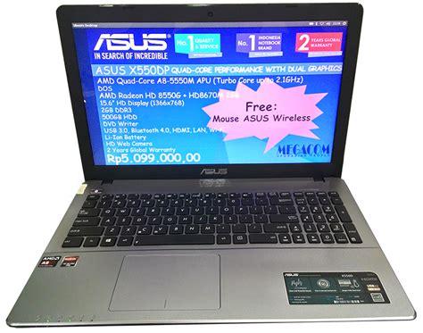 Notebook Asus Amd harga dan spesifikasi asus x550dp amd a8 abdillumi s