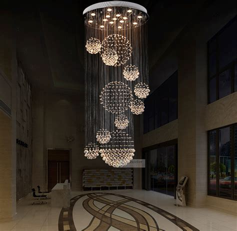 Staircase Chandelier Various Sizes Fit 110 240v Modern Spiral Sphere