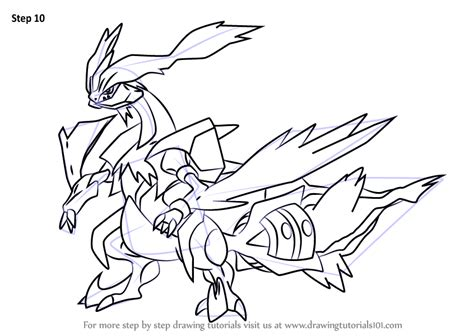 pokemon coloring pages black kyurem learn how to draw white kyurem from pokemon pokemon step