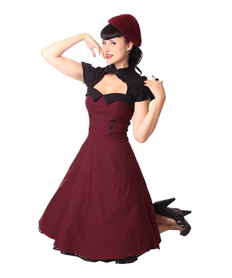 rockabilly swing kleid sugarshock harbor 40er retro bolero swing rockabilly