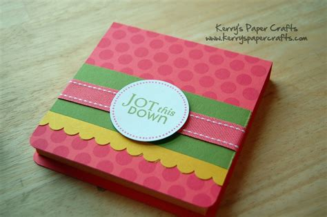 Kerry Paper Crafts - another great tutorial for post it note holders on