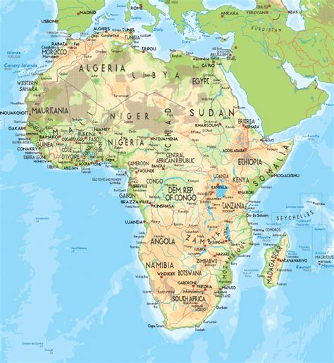 africa map geographical features africa map region country map of world region city
