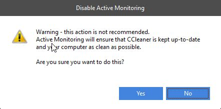 ccleaner enable active monitoring how to disable active monitoring in ccleaner techdows