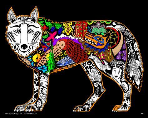 velvet coloring posters wolf 16x20 fuzzy velvet coloring poster inner nature