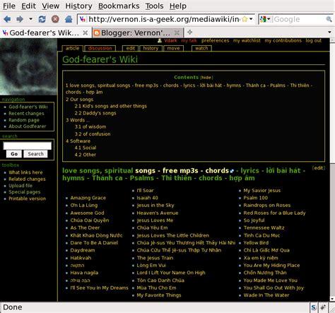 mediawiki themes gallery vernon s blog monobook dark