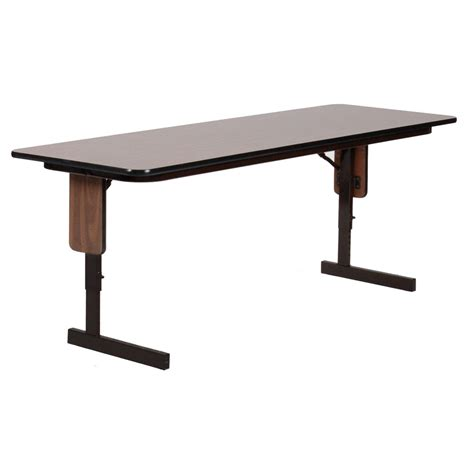 adjustable folding table legs 18x60 adjustable panel leg seminar table by correll in