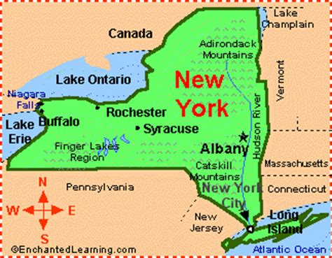 new york canada map presentation our state our country