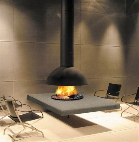 hanging and suspended fireplaces